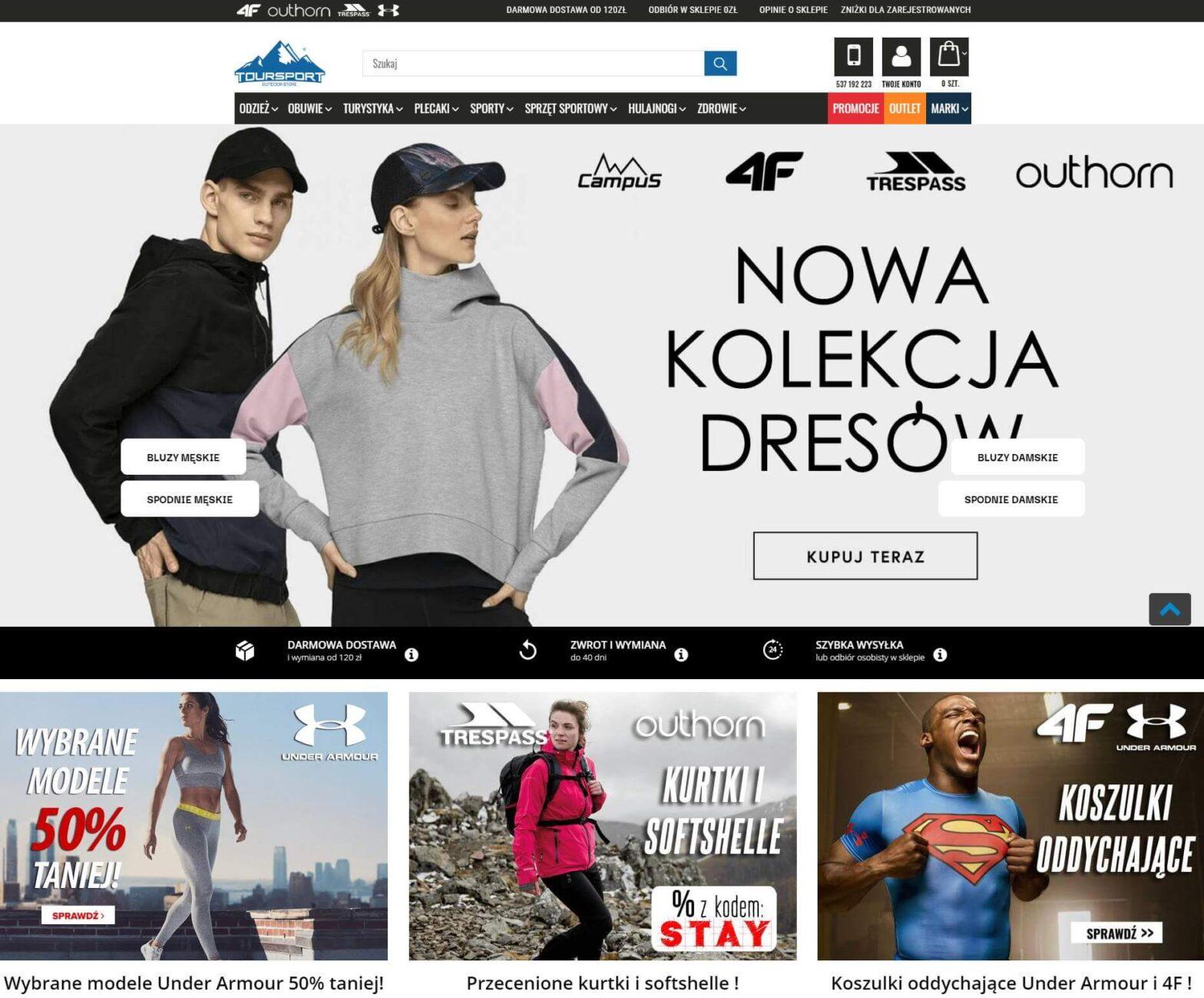 toursport.pl - Markowa odzież i sprzęt sportowy