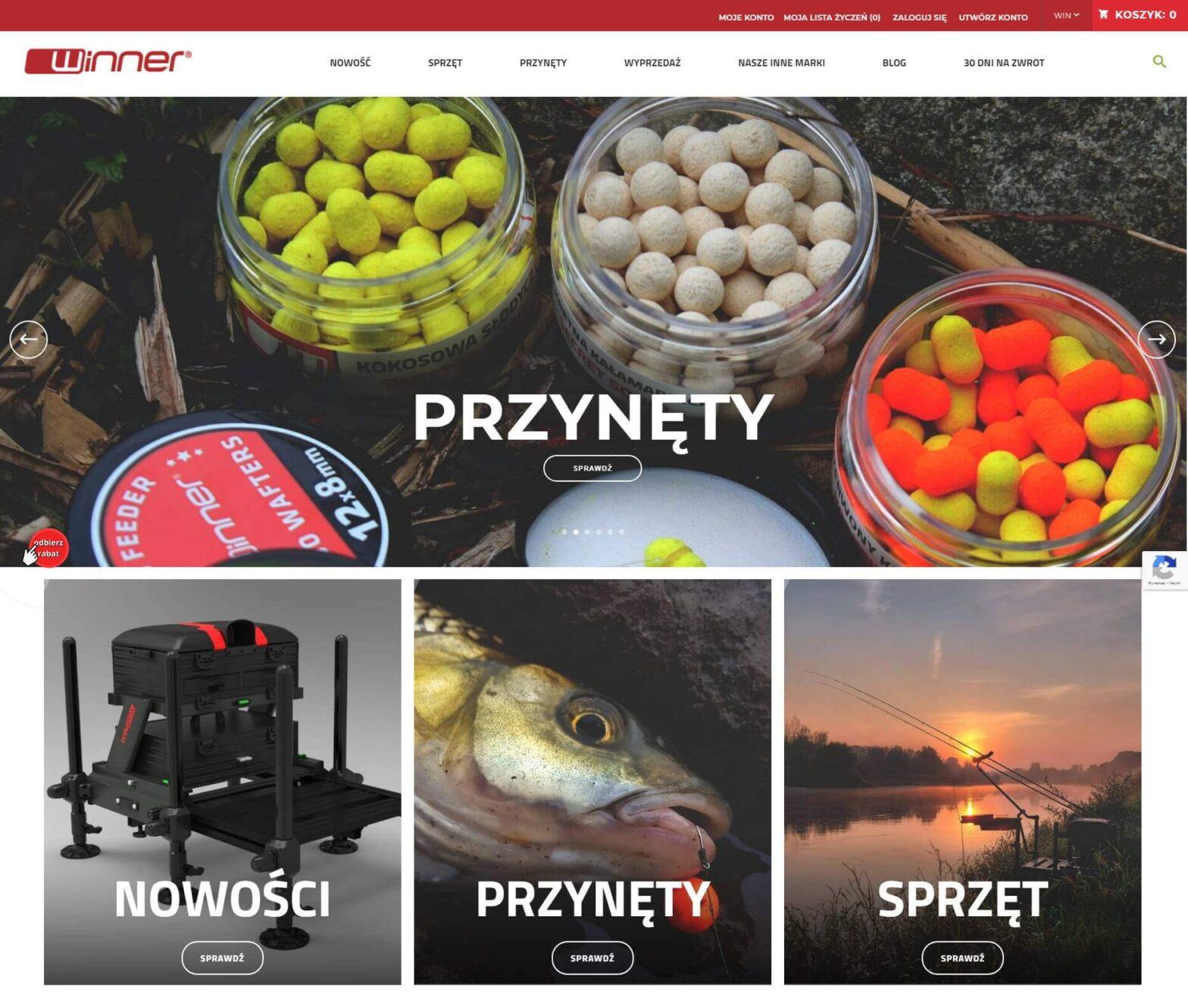winnerfishing.com - Sklep online z sprzętem wędkarskim