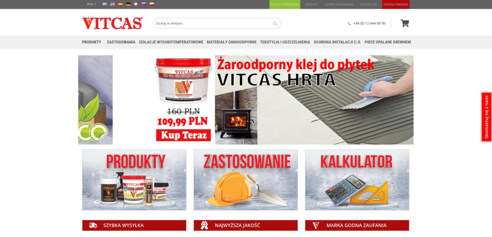 Vitcas - sklep z materiałami ogniotrwałymi